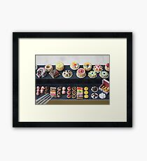 Rainbow Pastry and Cakes Framed Print