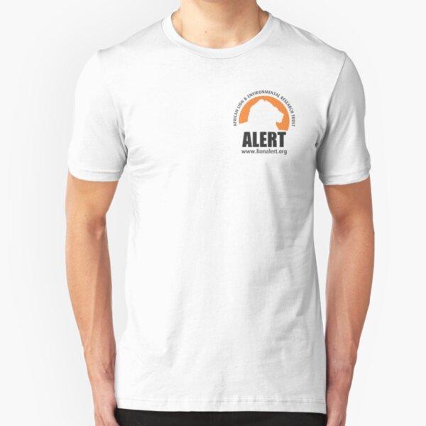 ALERT Logo (Black) Slim Fit T-Shirt