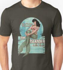 The Islander Tiki Bar - Bettie Page Mermaid Unisex T-Shirt