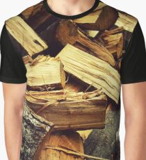 wood pile Graphic T-Shirt