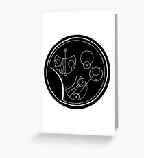 Bigger on the Inside - Black and White, Round Greeting Card