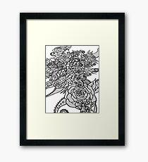 Rose Swirl Framed Print
