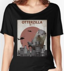 Otterzilla - Giant Otter Monster Women's Relaxed Fit T-Shirt