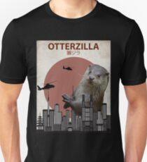 Camiseta ajustada Otterzilla - Monstruo de la nutria gigante