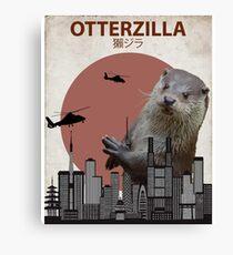 Otterzilla - Giant Otter Monster Canvas Print
