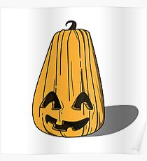 Halloween pumpkin smiling.  Poster