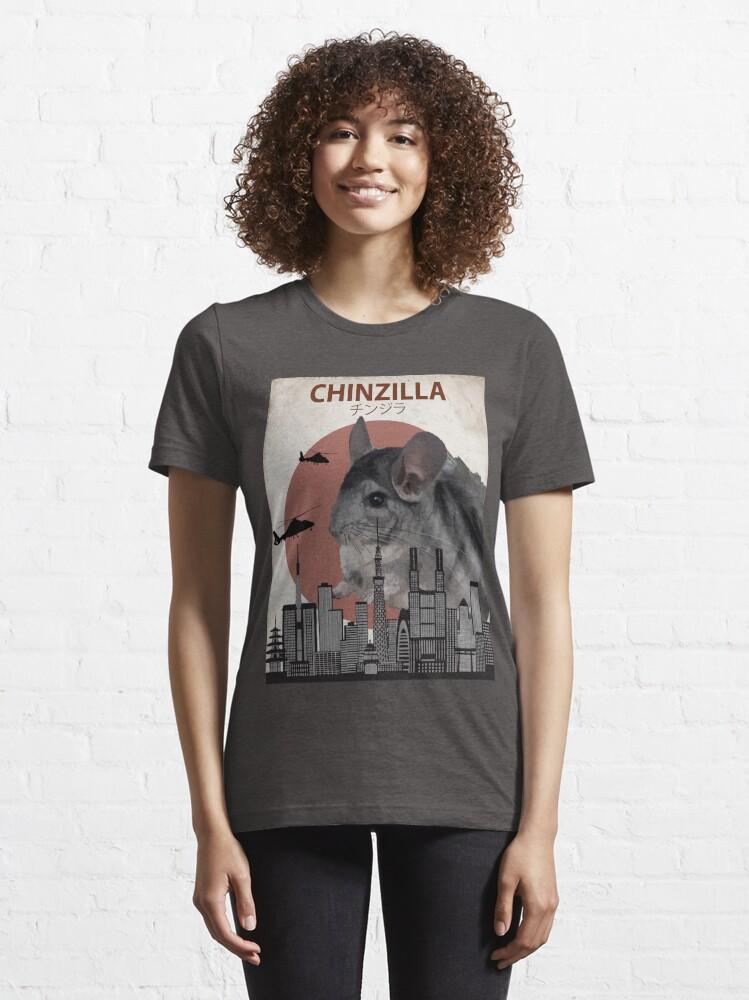 Alternate view of Chinzilla - Giant Chinchilla Monster Essential T-Shirt