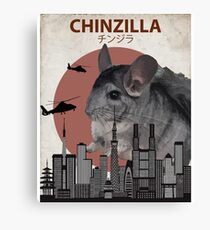 Chinzilla - Giant Chinchilla Monster Canvas Print