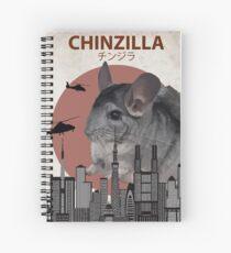 Chinzilla - Giant Chinchilla Monster Spiral Notebook