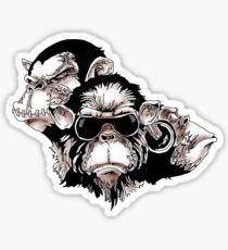 Three Wise Monkeys Sticker