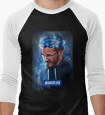 markiplier - the typography gamer Men's Baseball ¾ T-Shirt