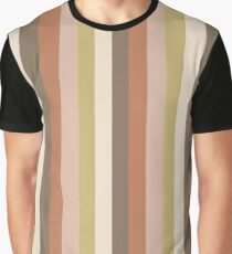 Vertical Stripes (brown) Graphic T-Shirt