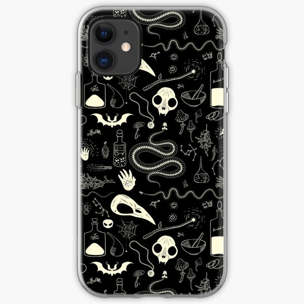 Witchcraft pattern with animal skulls iPhone Soft Case