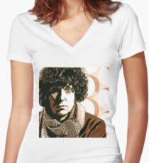 Time Traveller Tom Women's Fitted V-Neck T-Shirt
