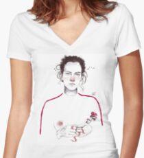LA LUCHADORA by elenagarnu Camiseta entallada de cuello en V