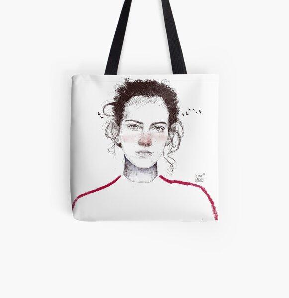 LA LUCHADORA by elenagarnu All Over Print Tote Bag