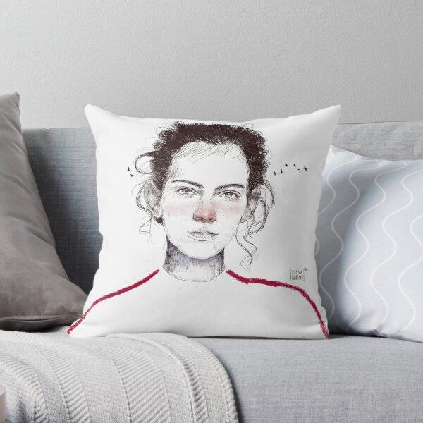LA LUCHADORA by elenagarnu Throw Pillow