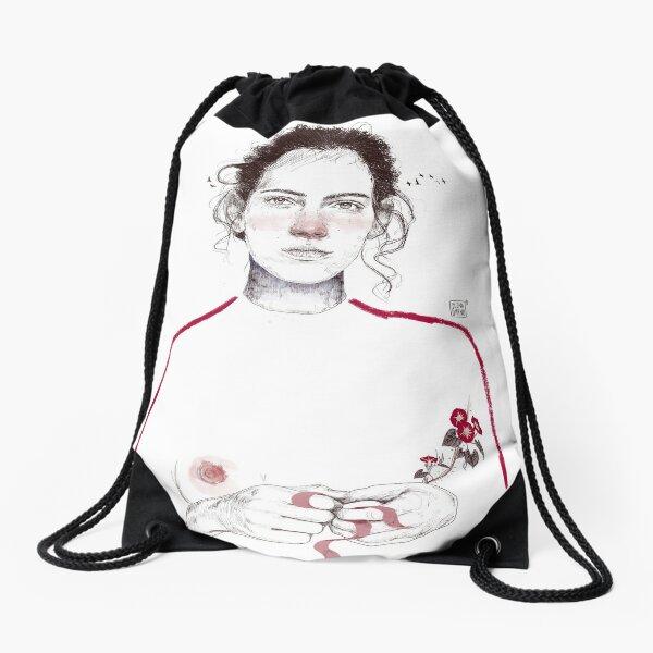 LA LUCHADORA by elenagarnu Drawstring Bag