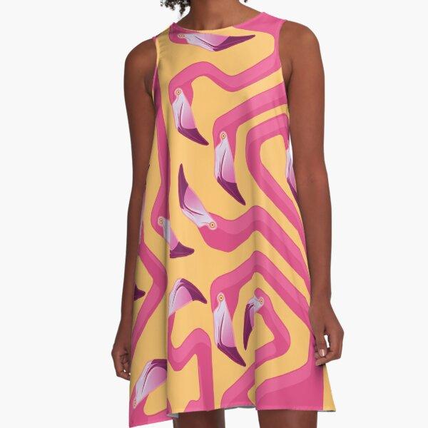 Flamingo Maze A-Line Dress