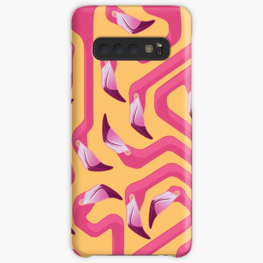 Flamingo Labyrinth Hülle & Klebefolie für Samsung Galaxy