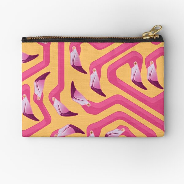 Flamingo Maze Zipper Pouch
