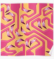 Flamingo Maze Poster