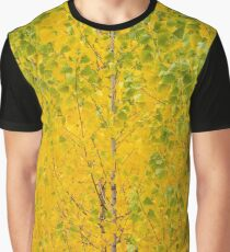 Poplar Trees with yellow leaves in autumn Graphic T-Shirt