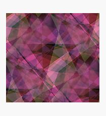 Purple diamond pattern Photographic Print