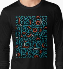 Arabic Organic Pattern Black T-Shirt