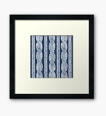 Cable Navy Framed Print