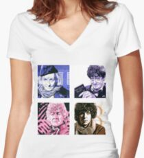 The First Four Time Travellers... Women's Fitted V-Neck T-Shirt
