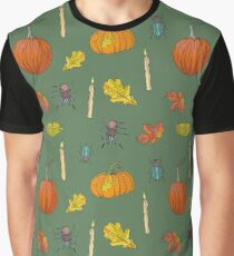Autumn Halloween pattern Graphic T-Shirt