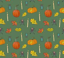 Autumn Halloween pattern by naktis