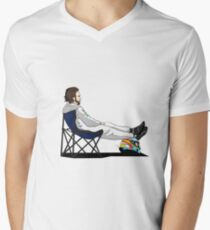 Formula 1 - Fernando Alonso deckchair - Cutout Men's V-Neck T-Shirt