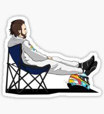 Formula 1 - Fernando Alonso deckchair - Cutout Sticker