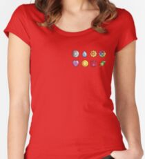 Kanto Gym Dadges Women's Fitted Scoop T-Shirt