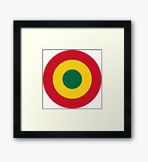 Roundel of Ghana Air Force Framed Print