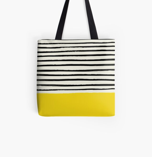 Sunshine x Stripes All Over Print Tote Bag