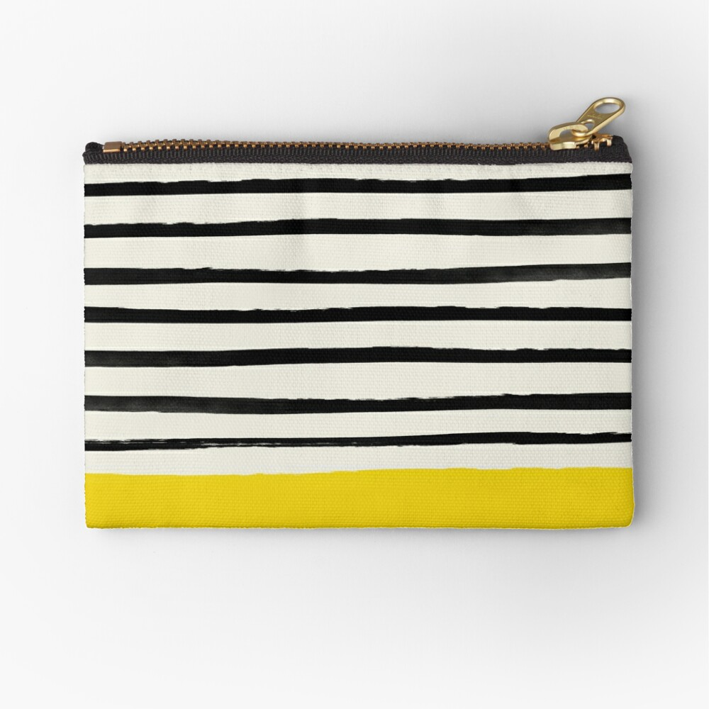 Sunshine x Stripes Zipper Pouch