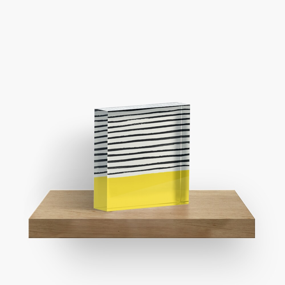 Sunshine x Stripes Acrylic Block