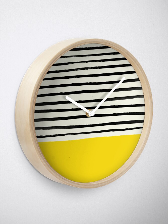 Alternate view of Sunshine x Stripes Clock