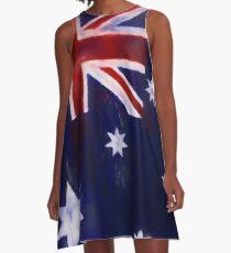 Australia Flag Reworked No. 2, Series 1 A-Linien Kleid