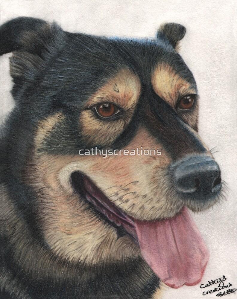 Rocco the big friendly dog by cathyscreations