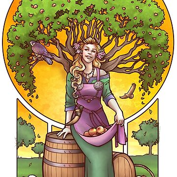 Iðunn- Norse Goddess of Apples and Youth by DaniKaulakis