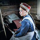 Skolt Sami girl, 1938 - Petsamo, Finland by Marina Amaral