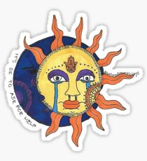 It's OK to Ask for Help Sun and Moon Sticker Sticker