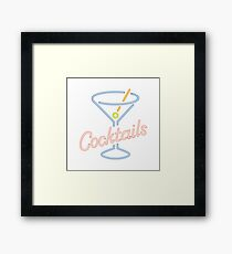Cocktails Framed Print
