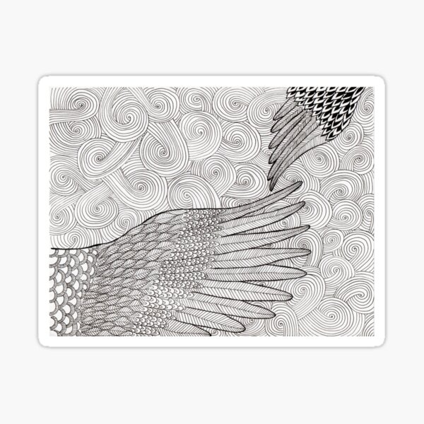 words-wings of love by ArtResponses Sticker