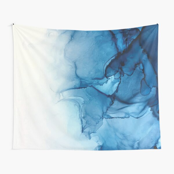 Blue Tides - Alcohol Ink Painting Tapestry