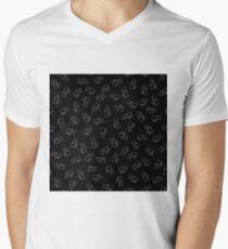 Hippopotamus Seamless Drawing Pattern on Black. Animal Cartoon Background T-Shirt